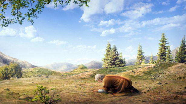 אלוהים מבטיח לאברהם להעניק לו בן