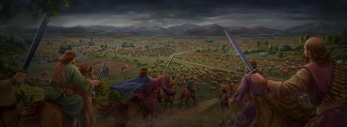 לאחר חילופי דברים אלו, לשטן ניתנה רשות לפתות את איוב. כך החל הסבב הראשון של מתקפות השטן.